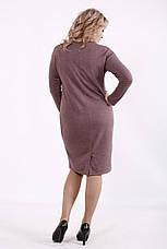 Трикотажне плаття великих розмірів для роботи на кожен день, фото 3