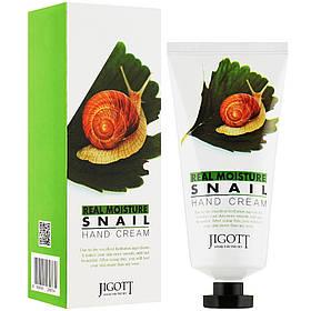 Увлажняющий крем для рук с муцином улитки Jigott Real Moisture Snail Hand Cream 100 мл