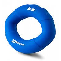 Эспандер силиконовый овальный 18,1 кг Hop-Sport HS-S018OG синий