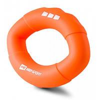 Эспандер силиконовый овальный 22,6 кг Hop-Sport HS-S022OG оранжевый