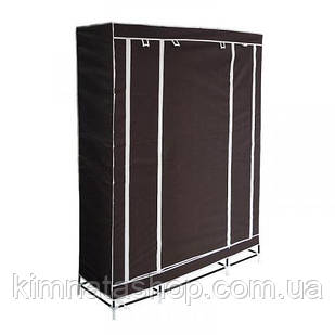 Портативный шкаф-органайзер (3 секции), коричневый