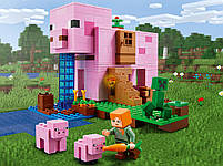 Lego Minecraft Будинок-свиня 21170, фото 7