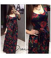 """Женское платье с розами """"Дольче"""", фото 1"""