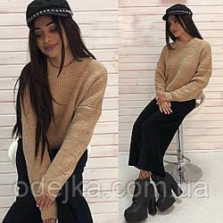 Вязанный свитер Лина