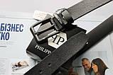 Мужской ремень с черной пряжкой Philipp Plein black, фото 2
