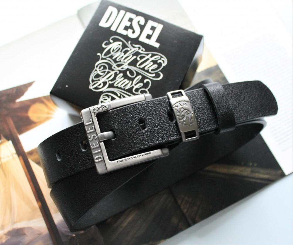Мужской ремень Diesel leather black