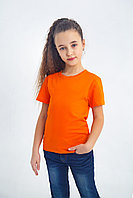 Футболка детская оранжевая качественная ,на физкультуру в садик и школу, детские футболки однотонные оранжевые