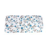 Пелёнка непромокаемая многоразовая (57*120) (Синие цветы)