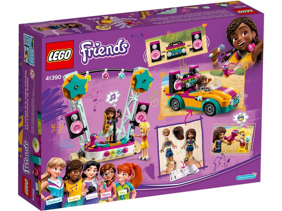 Lego Friends Машина со сценой Андреа 41390