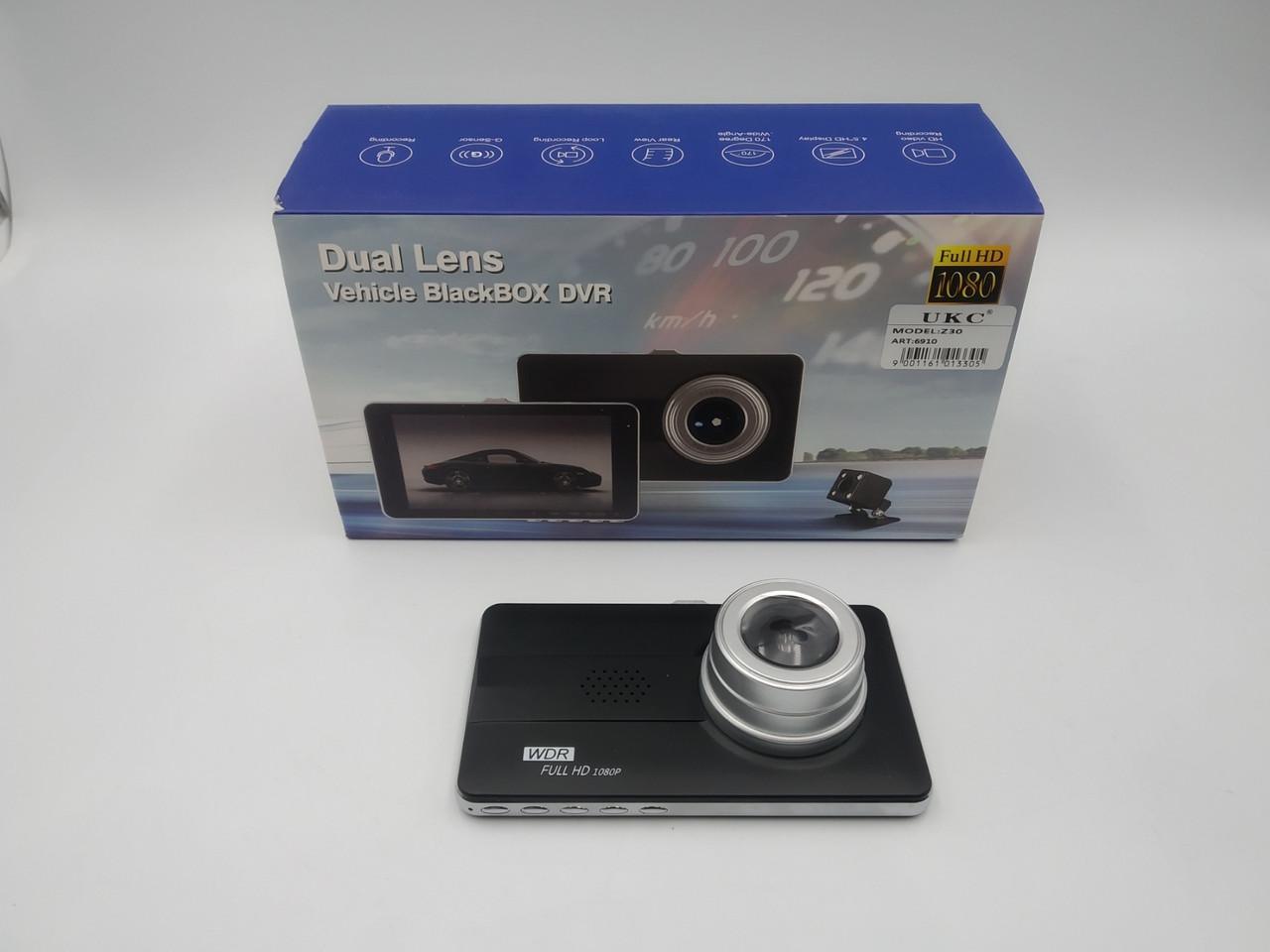 Автомобильный видеорегистратор UKC Z30 с двумя камерами