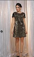 Роскошное платье мини в паетку, фото 1