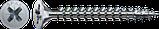 Саморез SPAX с покр. WIROX 3,5х12, полная резьба, потай, PZ2, 4CUT, упак. 1000 шт., пр-во Германия, фото 3