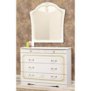 Комод в спальню из ДСП и МДФ Луиза Белый с патиной Світ меблів , фото 2