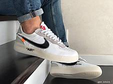 Демісезонні кросівки Nike Lunar Force 07 Virgil, білі з чорним, фото 2