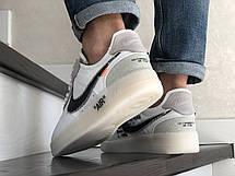Демісезонні кросівки Nike Lunar Force 07 Virgil, білі з чорним, фото 3