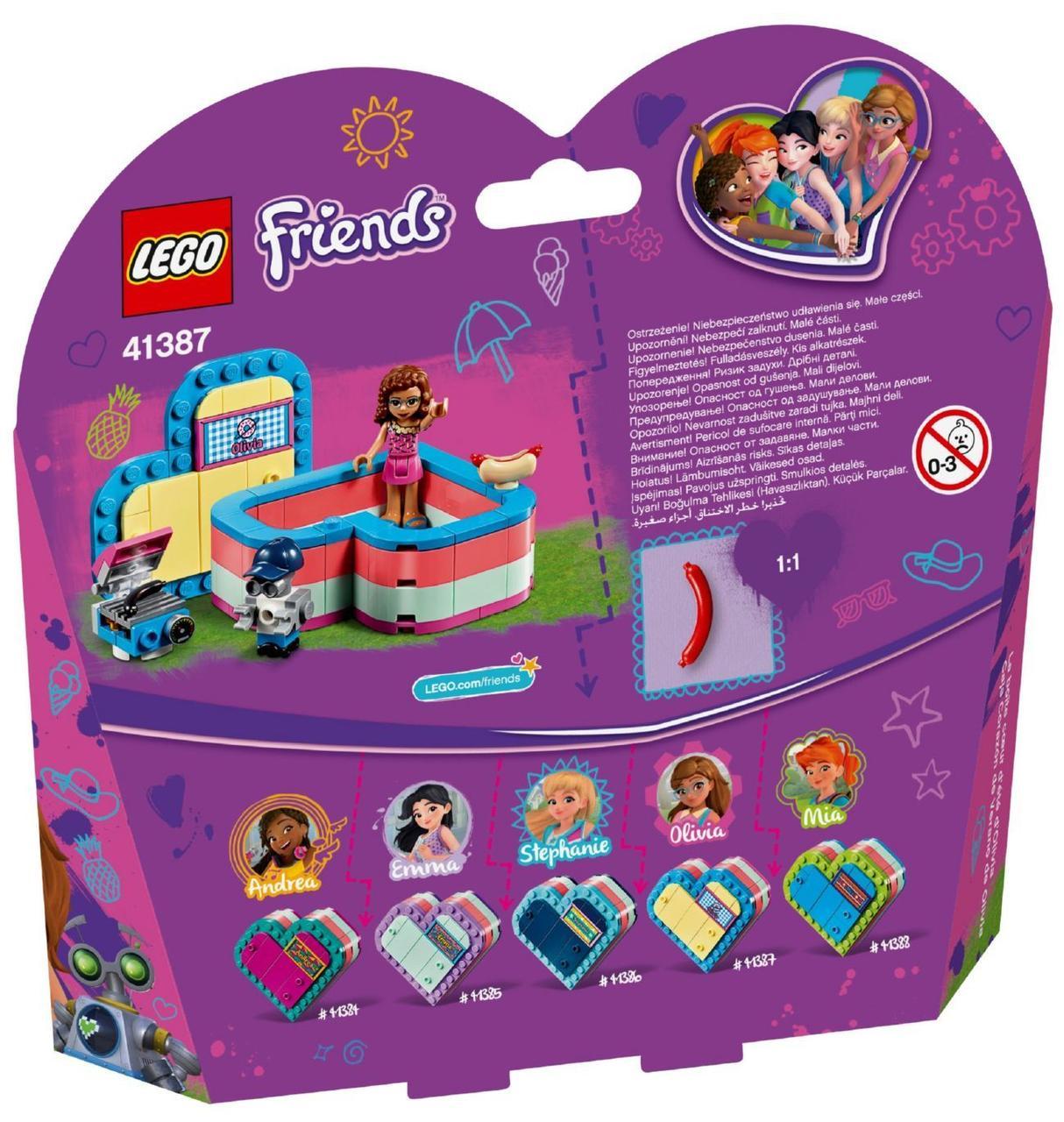 Lego Friends Річна скринька-сердечко для Олівії 41387