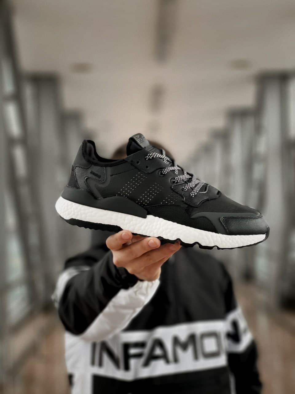 Чоловічі кросівки Adidas Nite Jogger Boost (репліка), сині (9372)