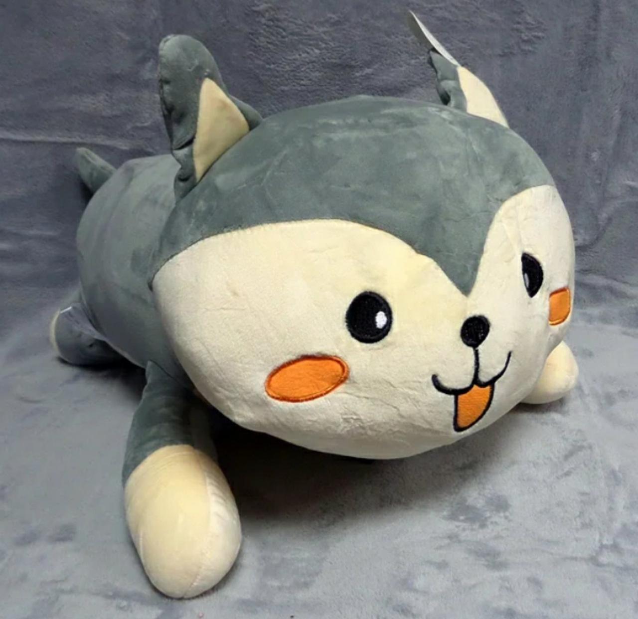 Плед - м'яка іграшка 3 в 1 ( Котик сірий )