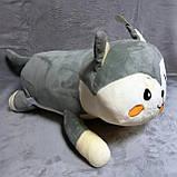 Плед - м'яка іграшка 3 в 1 ( Котик сірий ), фото 2