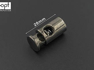 Фиксатор шнура пластик ФШ-(B)1002, цв. тёмный никель,