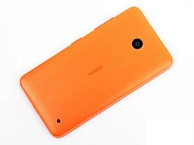 Задняя панель корпуса (крышка) для Nokia 630 Lumia Dual Sim (Оранжевая)