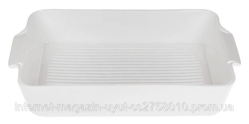 Форма для выпечки Ainsley фарфоровая 25.5х16х5см с ручками (белая)