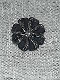 Пуговицы  круглой формы с горным хрусталем,диаметром 30 мм, фото 4
