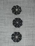 Пуговицы  круглой формы с горным хрусталем,диаметром 30 мм, фото 6
