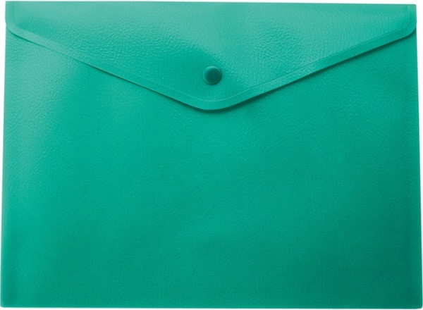 Папка-конверт А5 на кнопці, матова, зелений BM3935-04
