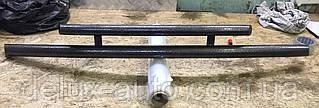 Защита переднего бампера Труба двойная Передний радиус Дуга на Renault Logan Sedan 2013+
