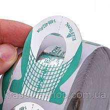Форма для нарощування нігтів вузька EzFlow, зелена, 500 шт/рул