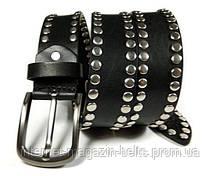 Ремінь Fs.Style шкіряний в заклепках чорний