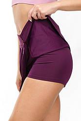 Шорты юбка женская SW (42-44, 46-48, 48-50), спортивная юбка с шортами 2 в 1 для спорта и прогулок