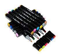 Набор скетч-маркеров 60 шт. для рисования двусторонних Touch  (TOUCH60-BL), фото 4
