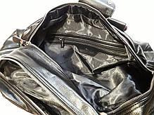 Сумка дорожня багажна велика спортивна чорна на 2 відділу еко шкіра Bradford 66239, фото 2