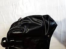 Сумка дорожня багажна велика спортивна чорна на 2 відділу еко шкіра Bradford 66239, фото 3