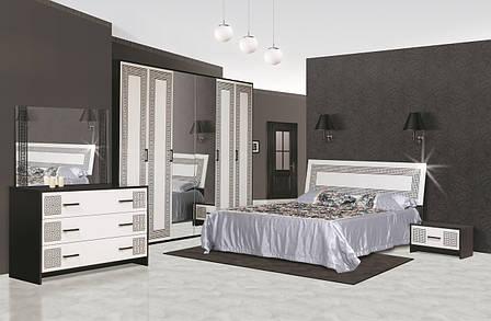 Кровать двуспальная из ДСП 180*200 Бася Новая Олимпия Світ меблів с ламелевым каркасом , фото 2