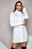 """Рубашка женская Jadone Fashion """"Нида"""" оригинального кроя (белый, р.S-XL), фото 4"""