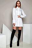 """Рубашка женская Jadone Fashion """"Нида"""" оригинального кроя (белый, р.S-XL), фото 2"""