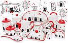"""Банка керамическая """"I Love My Cat"""" 500мл с деревянной ложкой для сыпучих продуктов или меда, фото 4"""