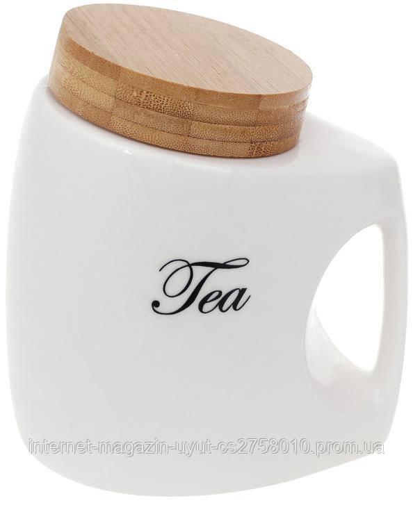 "Банку порцеляновий Nouvelle Home ""Tea"" 1л з кришкою бамбуковій"