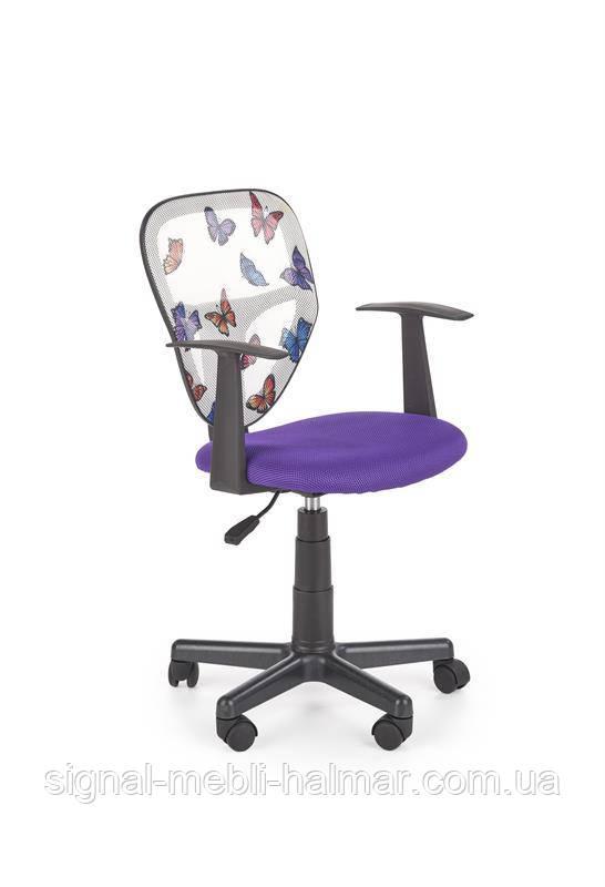 Кресло компьютерное SPIKER  фиолетовое из ткани и сетки (Halmar)