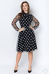 Платье Шерри крупный горох