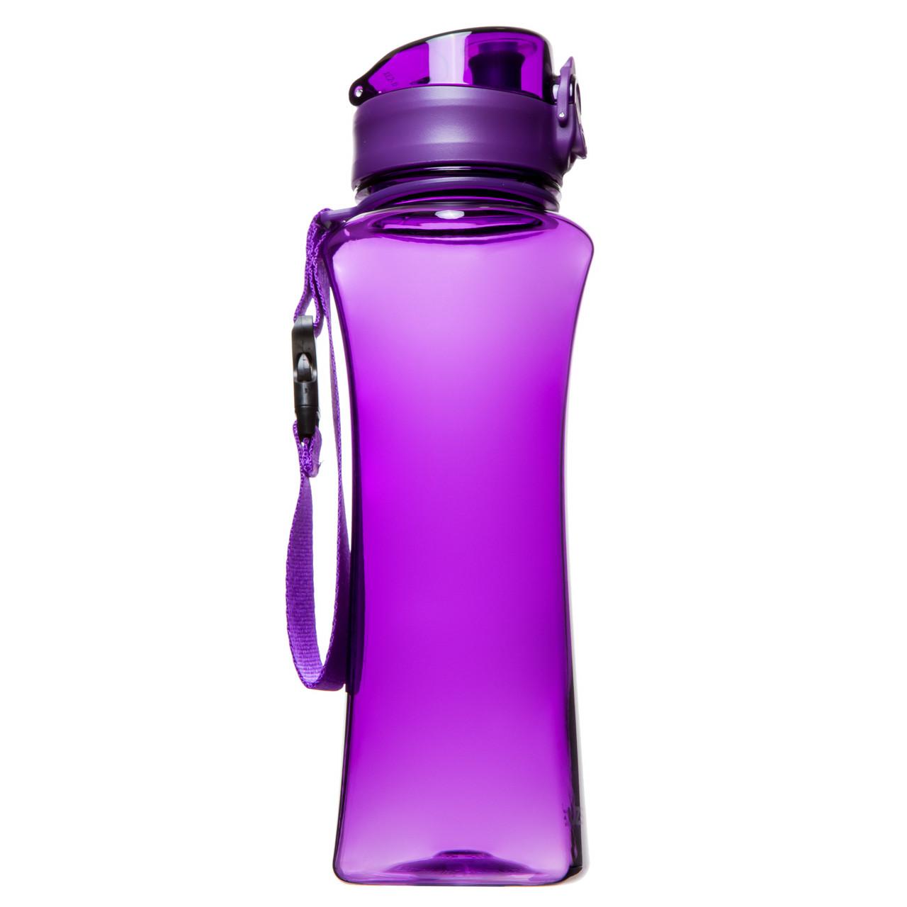 Пляшка для напоїв 500 мл Uzspace Wasser фіолетова (серія 6006)