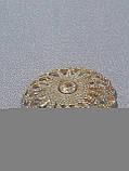 Пуговицы  круглой формы с горным хрусталем,диаметром 25 мм, фото 3