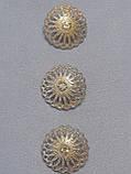 Пуговицы  круглой формы с горным хрусталем,диаметром 25 мм, фото 5
