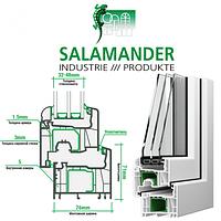 """""""Salamander Streamline"""" (Саламандра) окна металлопластиковые."""