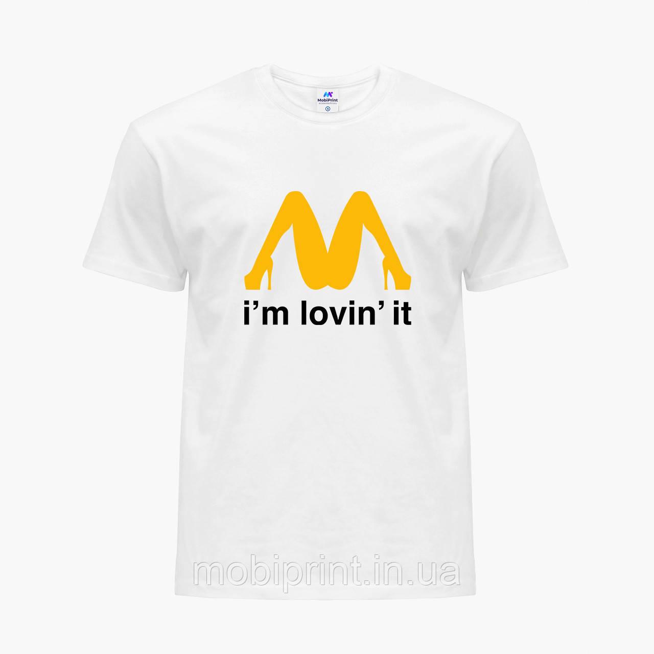 Футболка мужская Я это люблю (I'm lovin' it) Белый (9223-2013)