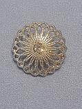 Пуговицы  круглой формы с горным хрусталем,диаметром 18 мм, фото 4