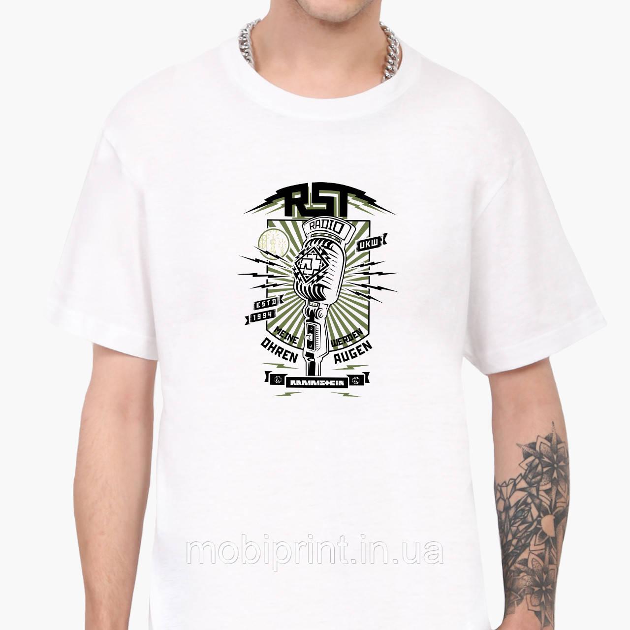 Футболка мужская Рамштайн (Rammstein) Белый (9223-2024)